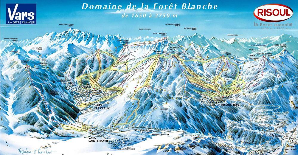 Risoul ski map