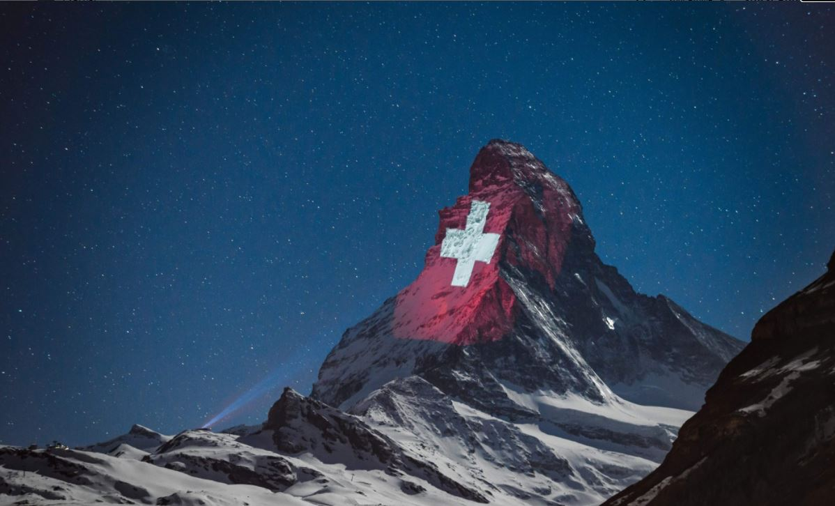 Matterhorn Switzerland Flag