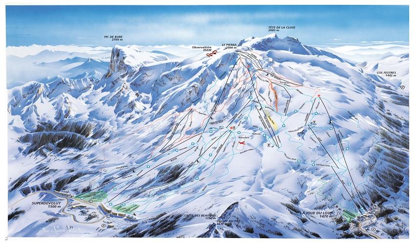 Superdevoluy ski map